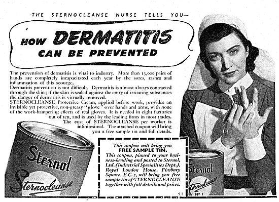 Sternol Sternocleanse Barrier Cream. Prevent Dermatitis