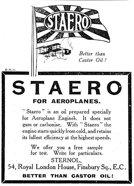 Stern Sonneborn Oil. Sternol STAERO Engine Oil