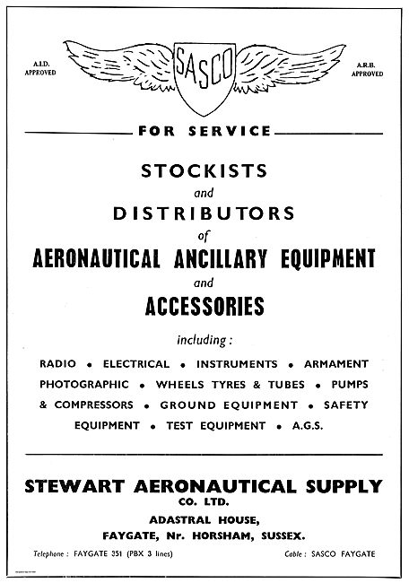 Stewart Aeronautical Supply: SASCO Aircraft Supplies In Stock