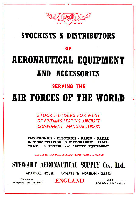Stewart Aeronautical Supply - Aircraft Parts Stockists