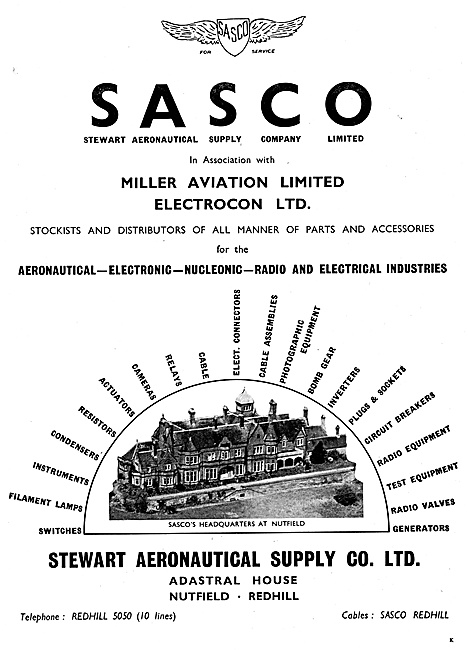 SASCO Stewart Aeronautical Supplies. Miller Aviation - Electrocon