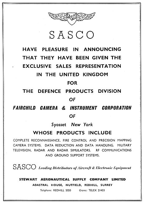 Stewart Aeronautical Supply - SASCO. Fairchild Defence Products