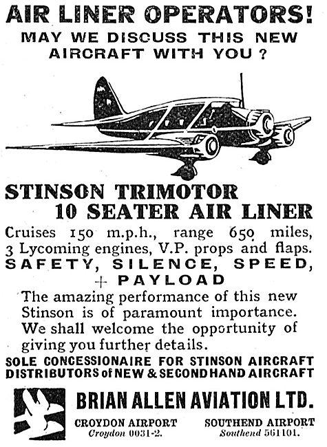 Stinson Trimotor - Brian Allen Aviation