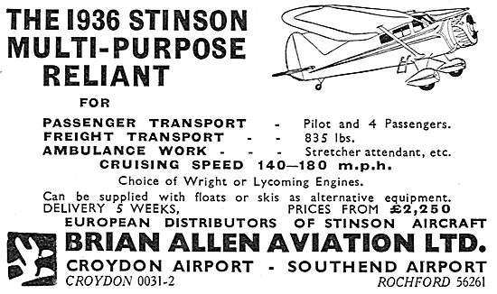 Stinson Reliant - Brian Allen Aviation
