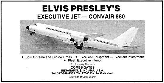 Combs Gates Aircraft Sales - Elvis Presleys Convair 880