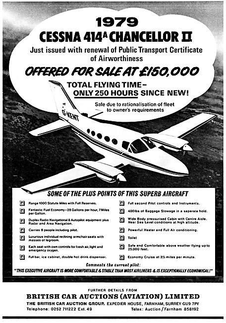 British Car Auctions (Aviation)