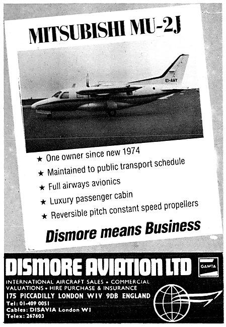 Dismore Aviation Aircraft Sales 1980