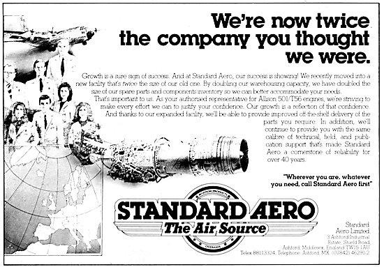 Standard Aero Aircraft Parts Stockists