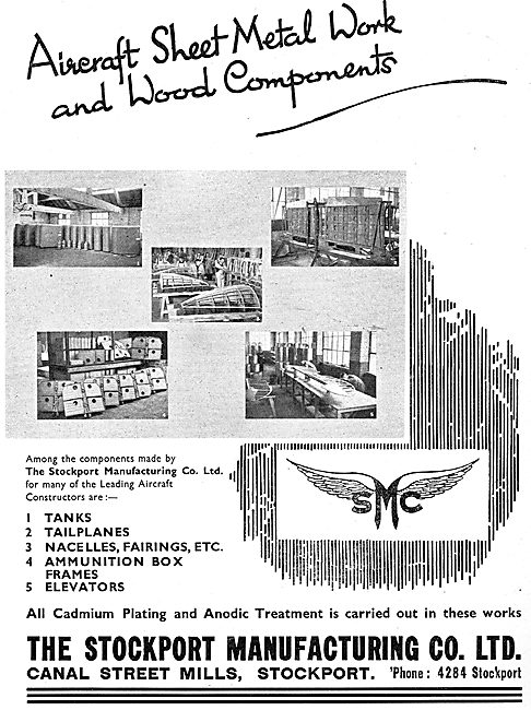 The Stockport Manufacturing Co Ltd - Aircraft Sheet Metal Work