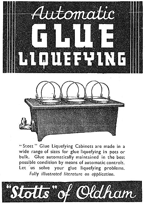 Stotts Of Oldham Glue Liquefying Equipment 1942