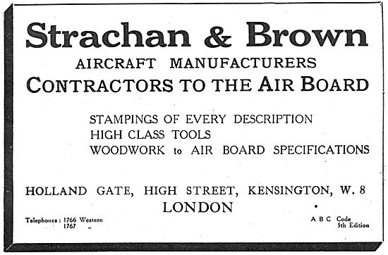 Strachan & Brown - Aeronautical Engineers