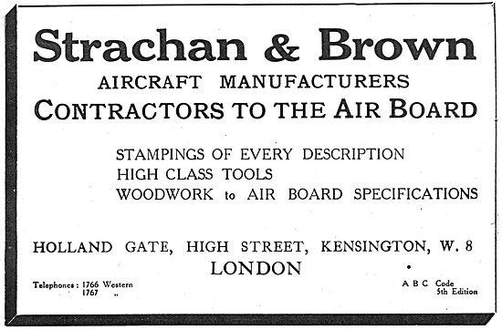 Strachan & Brown - Aeronautical Engineers