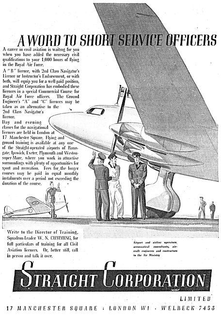 Straight  Aviation Flying Training & Correspondence Courses