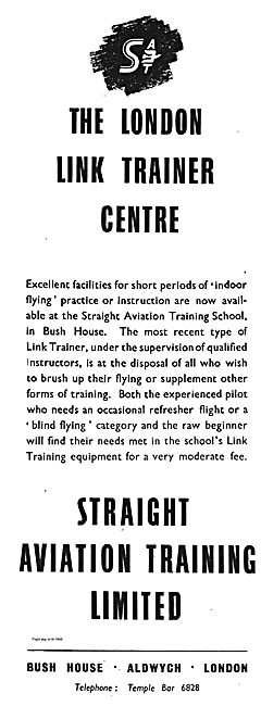 The London Link Trainer Centre. Straight Aviation Training