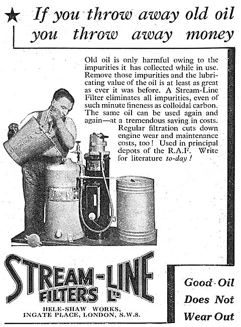 Stream-Line Filters - Oil Filters - Reclaim Old Oil