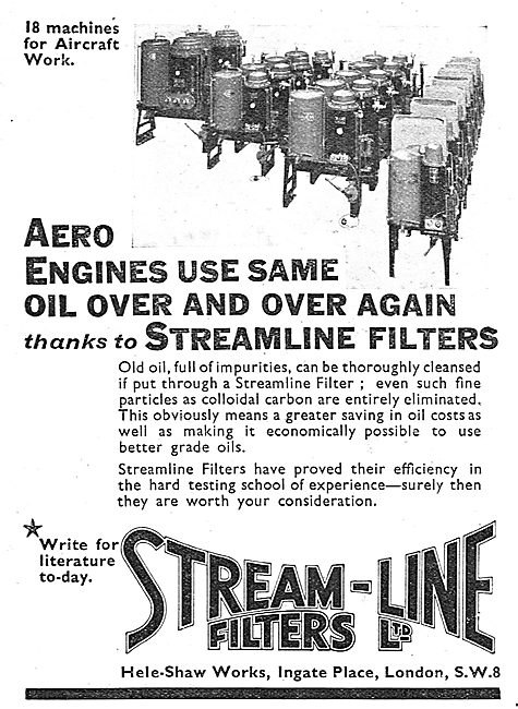 Stream-Line Filters Reclaim Used Engine Oil