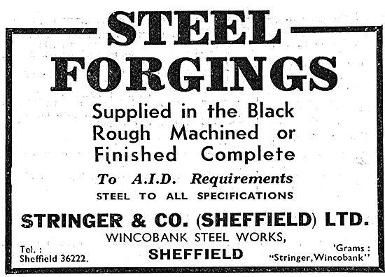 Stringer & Co. Wincobank Steel Works. Sheffield. Steel Forgings