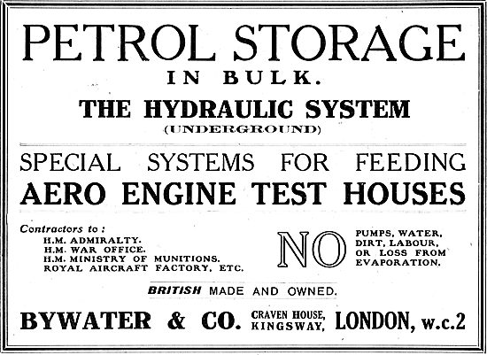 Bywater & Co. Bulk Petrol Storage Systems For Airfields