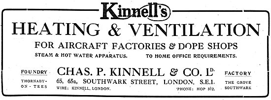 Kinnells Heating & Ventilation Systems For Aircraft Factories