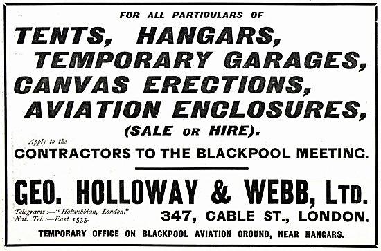 Geo Holloway & Web Ltd - Temporary Aircraft Enclosures