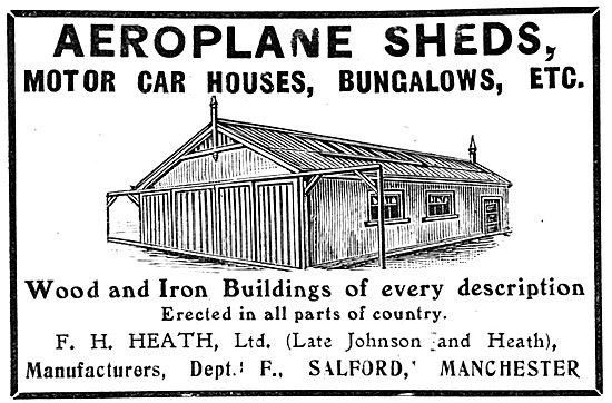 F.H.Heath. Salford. Aeroplane Sheds