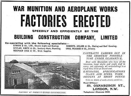 Building Construction Co Ltd - Factories Erected