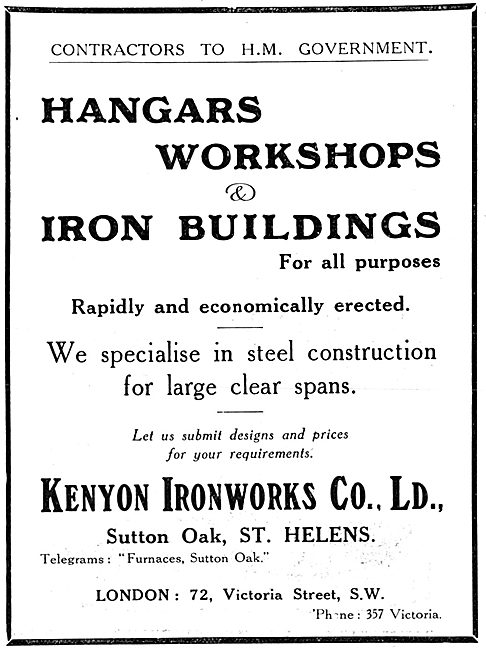 Kenyon Ironworks Co Ltd.  Hangars