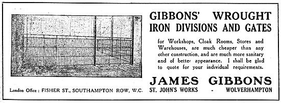 James Gibbons Wrough Iron Divisions & Gates