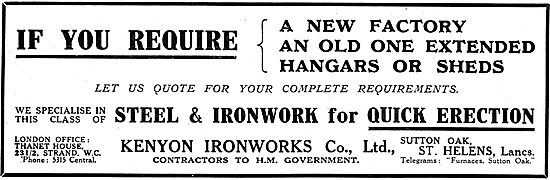 Kenyon Ironworks Co Ltd. Steel & Ironwork For Hangar Construction