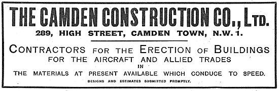 The Camden Construction Co. Hangar Erection