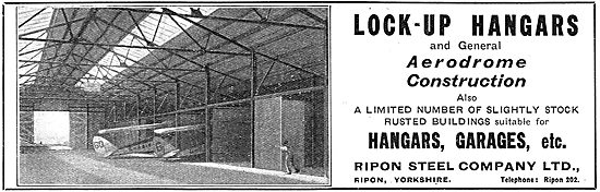 Ripon Steel For Lock-Up Hangars And Aerodrome Construction