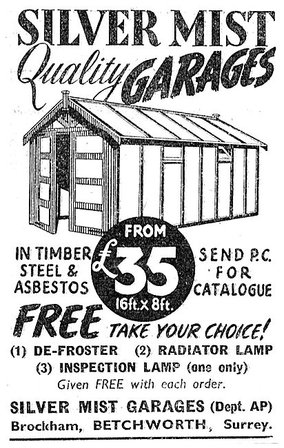 Silver Mist Garages - Timber Steel & Asbestos. £35.00  1949