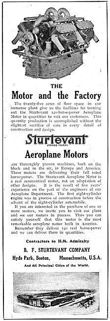 Sturtevant Aero Motors - Contractors To HM Admiralty