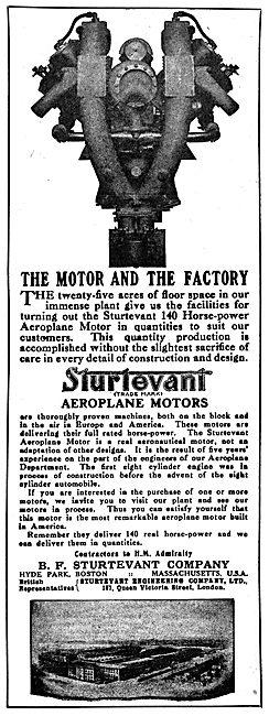 Sturtevant Aeroplane Engines 1916