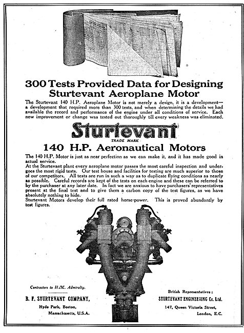 Sturtevant WW1 Aero Engines