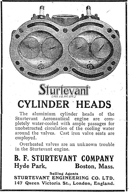 Sturtevant Aeronautical Engine Cylinder Heads