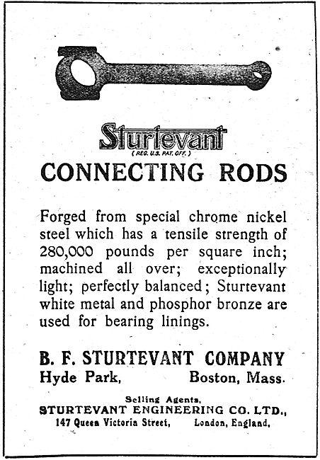 Sturtevant Aeronautical Engine Connecting Rods