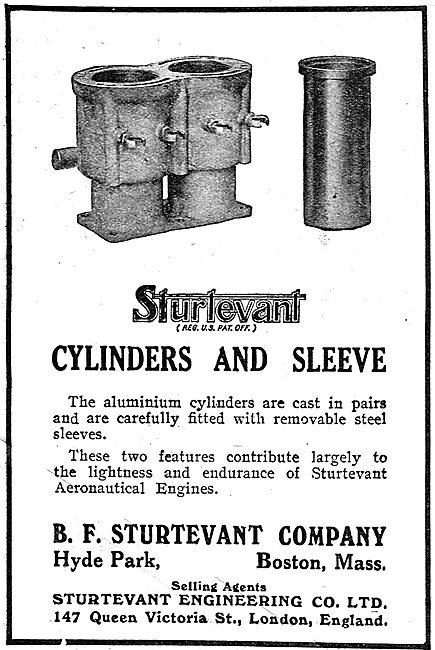 Sturtevant Aeroplane Motors - Cylinders & Sleeve