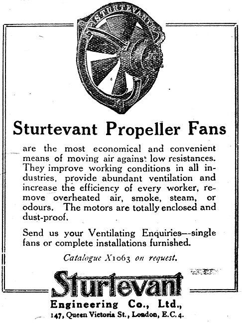 Sturtevant Propeller Fans For Factories