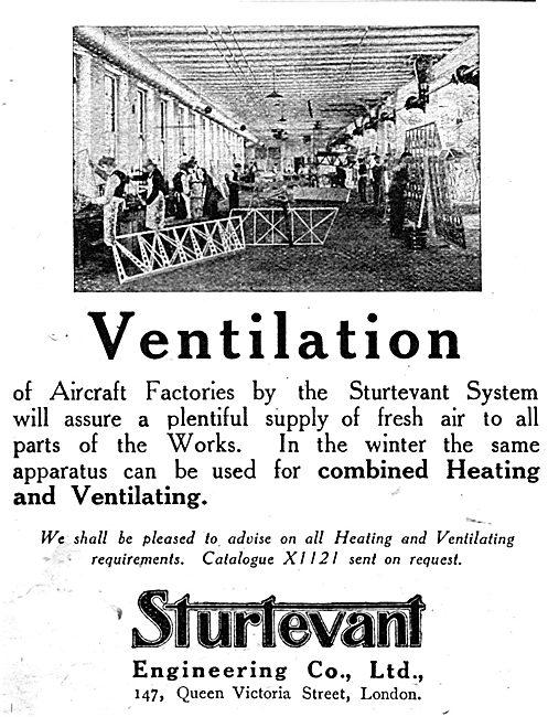 Sturtevant Ventilation Fans For Factories 1917