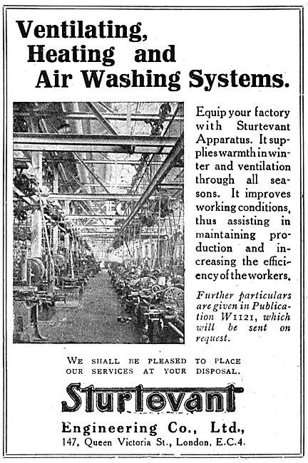Sturtevant Engineering Factory Heating & Air Washing Systems