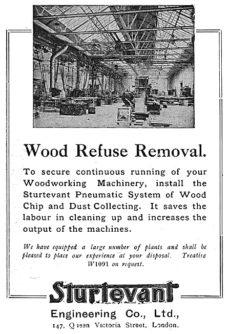 Sturtevant Engineering Factory Equipment - Wood Refuse Removal