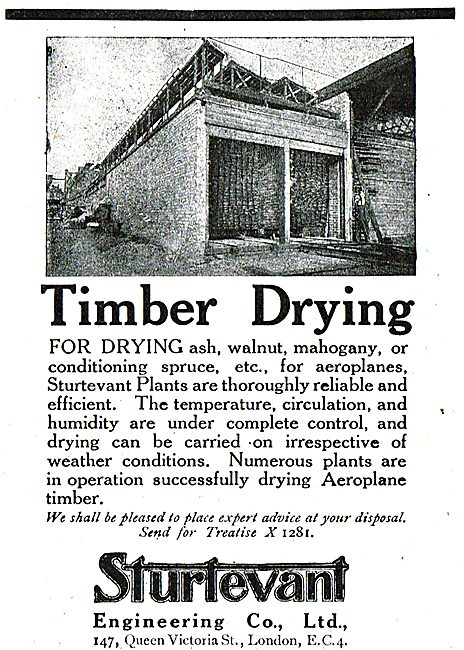 Sturtevant Timber Drying Processes For The Aviation Industry