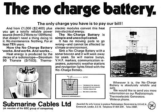 Submarine Cables No-Charge Battery