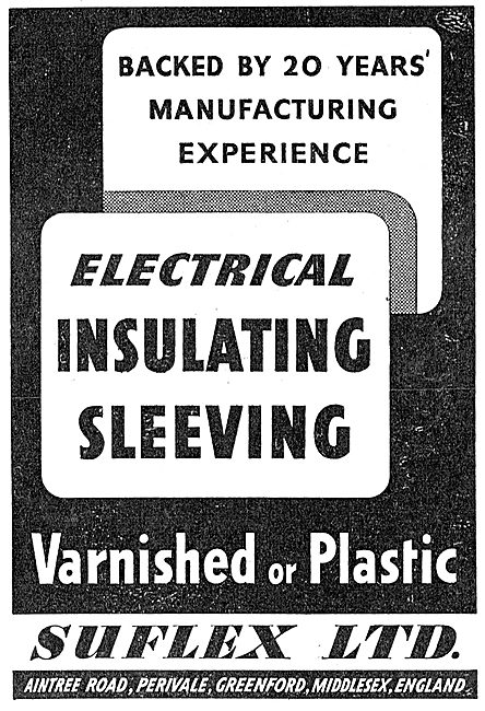 Suflex Electrical Insulating Sleeving 1943