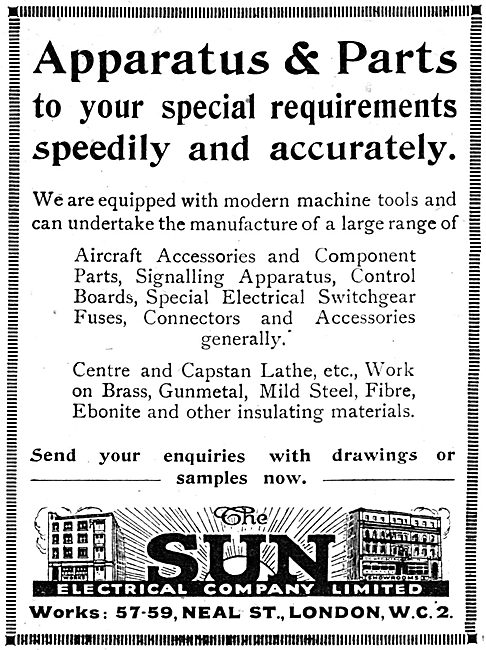 The Sun Electrical Company - Aircraft Electrical  Accessories
