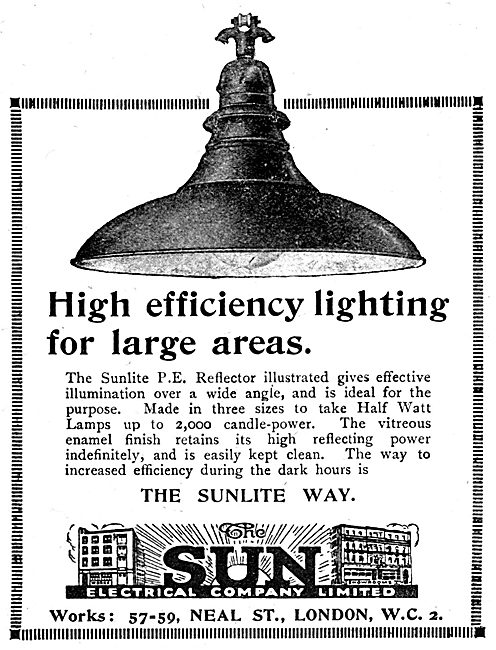The Sun Electrical Company - Sunlite Factory Lighting
