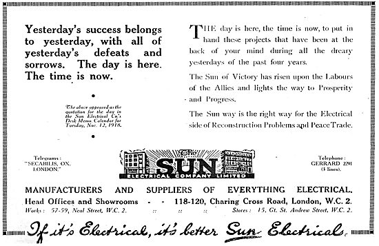 The Sun Electrical Co - Aircraft & Industrial Electrical Products