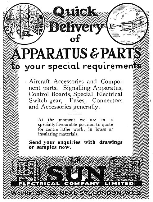 The Sun Electrical Co.  Aircraft Electrical Apparatus & Parts