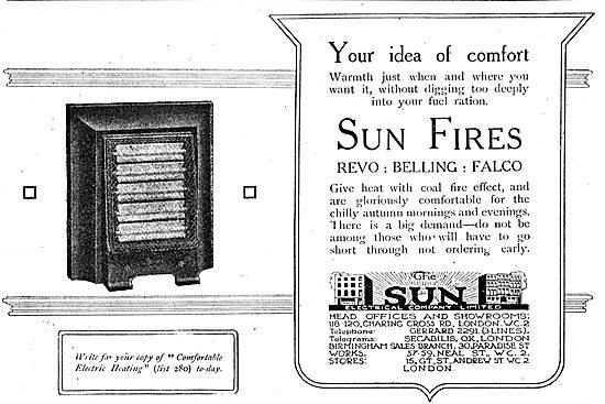 The Sun Electrical Co - Domestic Heaters. REVO, Belling, Falco